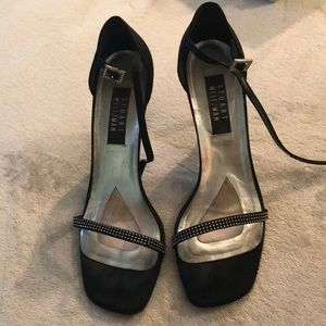 Black Sandals with Rhinestones